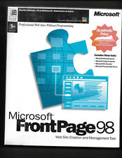 Microsoft Front Page 98 Factory Sealed Vintage For Windows 95 or NT