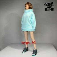1/6 Female Oversize Hoodie Coat Clothes Blue fit 12'' Phicen JIAOU UD Figure