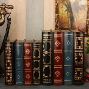 European Style Retro Fake Books Simulation Books Storage Box Office Home Decor