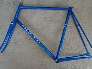 PELIZZOLI PISTA, BEAUTIFUL BLUE FINISH, ENGRAVED STEEL FRAMESET, 60/58cm NEW