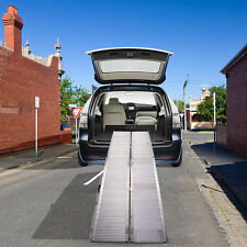 10'  Folding Portable Mobility Handicap Suitcase Wheelchair Threshold Ramp