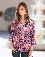 TOGETHER SIZE 48 (20) FLORAL TOP WITH BELL SLEEVES AS NEW /OR NEW