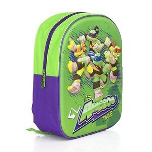 Ninja Turtles Backpack Bag School Nursery TMNT - 3D NEW OFFICIAL