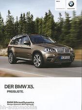 BMW X5 Preisliste 10 11 D price list prijslijst hinnakiri prys lys hinnasto 2011