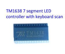 TM1638 SOIC-28 arduino 8 digit 7 segement LED driver keyboard scan SPI interface