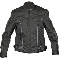 NexGen Textile Lightweight Motorcycle Jacket Black Women's Large