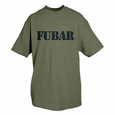 t-shirt fubar military olive drab various sizes fox outdoor 64-541