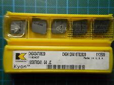 10 x Kennametal Kyon Keramik CNGN 120416 T02020 ; KY3500; NEU & OVP; NEW