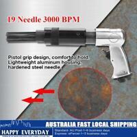 19 Pin Needle Scaler Pneumatic Air Gun Workshop Pistol Air Tool Rust Remove New