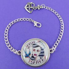 SAILOR TATTOO GIRL BRACELET jerry vintage rockabilly 50s nautical swallow anchor