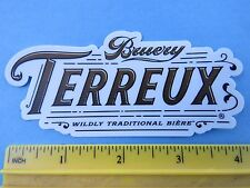 BEER STICKER ~*~ The BRUERY Terreux Wild Biere ~*~ Orange County, CALIFORNIA