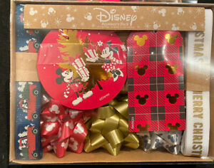 Disney Christmas Gift Wrapping Set Labels Tags Ribbon Brand New