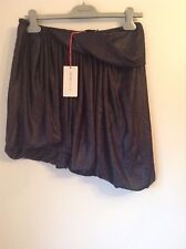 BNWT 100% auth See By Chloe, Navy Wet Look Unique skirt. UK 12 RRP £290