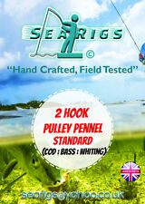 2 Hook Pulley Rig (Pennel) #1 + 1/0 Codling, Whiting & Bass x 5 Packs