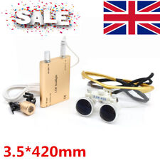 3.5X 420mm Dental Surgical Binocular Magnifier Loupe Dentist +LED Head Light