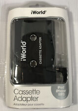 New! iWorld Cassette Adapter ipod iphone Mp3 Compatible Plug & Play.