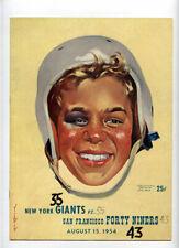 San Francisco 49ers New York Giants RARE! 1954 Program Landry Lombardi 1st yr!!