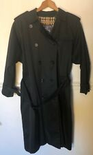 Burberry Womans Black Trench Coat *UK 10*