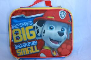 Paw Patrol Marshall Boys Insulated Lunch Box School Tote Bag Food Cooler Kids