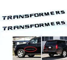 2x OEM Black Transformers Hero EMBLEM Badge Letter 3D Y for Jeep F150 Suburban