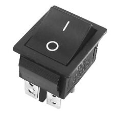 2 Pcs Noir 4 broches DPST On/Off Interrupteur a Bascule AC 250V/15A 125V/20A WT