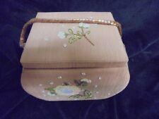 Beautiful Fabric & Sequin Flower Jewelry Box Organizer & Ring Holder  keep sake