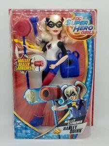 "✅DC Super Hero Girls Harley Quinn Action Doll W/Mallet Launcher 12"" BRAND NEW"