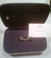 COACH Signature Travel Jewelry Box Case - Black/White/Black - New with Tags