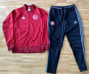Dänemark Denmark Tracksuit Track Pants Jacket Adidas Playerissue Trainingsanzug