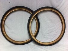 RARE Pair BLACK 20 x 1.75 CYCLEPRO F/S SNAKEBELLY TIRES Old School BMX Freestyle