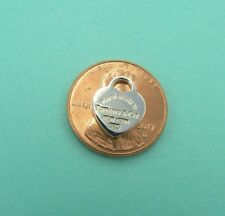 New Tiffany & Co Mini Small Sterling Silver Heart Pendant Charm T & Co .925 gift