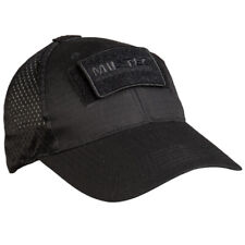 Mil-Tec Mesh Tactical Baseball Cap Military Army Cadet Airsoft Hiking Hat Black