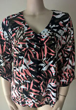 LADIES SIZE L SUZANNE GRAE LOVELY PRINTED TOP NEW WITH TAGS