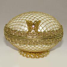 Boite à bijoux oeuf en coquille style Faberge, oeuf Collection écrin à bijoux