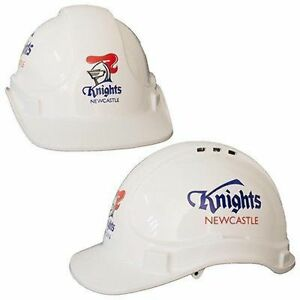 New NEW NRL Knights Light Weight Vented Safety Hard Hat: White Merchandise