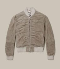 All Saints Suede Ari Bomber Jacket | Natural | Large | RRP £345