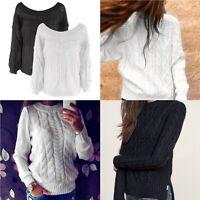 Fashion Women Long Sleeve Loose Sweater Knitted Cardigan Coat Jacket Outwear