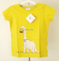 NWT Hanna Andersson Art Tee In Supersoft Jersey, YELLOW, size 150, retail $28
