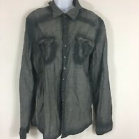 Rogue Mens Shirt Sz XL Gray Button Down Long Sleeve Casual Cotton M43