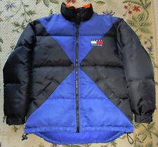 Vintage Tommy Hilfiger Down Puffer Jacket Ski Mens Small Blue Black