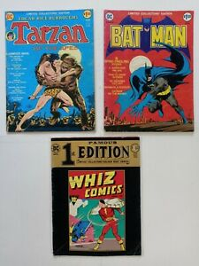 DC LIMITED COLLECTORS FAMOUS 1st EDITION Lot o 3 SHAZAM/BATMAN/TARZAN C22 C25 F4