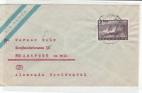 Argentina 1959 air mail tuberculosis stamps cover ref 21751