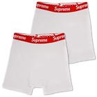 Supreme x Hanes Men's 100% Authentic 2 Pack White Boxer Briefs