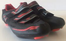 Gavin MTB Cycling Shoes Womens Size 7.5US 39EUR Red Black Hook and Loop