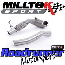 "MILLTEK VW GOLF GTI MK7 2013 in 3"" SPORTS CAT Race & Cast il tubo verticale NUOVO SSXVW388"