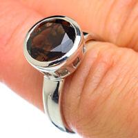 Smoky Quartz 925 Sterling Silver Ring Size 7.5 Ana Co Jewelry R49344F