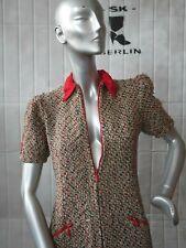 Kleid S M Woll-Boucle 40er Puffärmel Rockabilly TRUE VINTAGE wool dress 40s