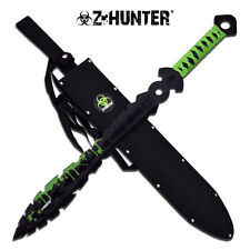 NEW! Z-Hunter Zombie Fantasy Blade Sword Medieval RPG Style Double Edged Sawback