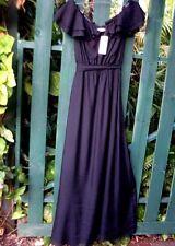 RRP$290 PINK RUBY (Sz: 14) Tall Ladies BLACK SILK Designer NATASHA MAXI DRESS
