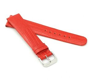"""RIOS1931 Teju Lizard Style Watch Band """"Bolivia"""", 16-20 mm, 8 colors, new!"""